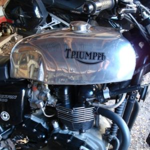 We can also supply finishing touches such as tank badges/decals etc as seen on this Triumph