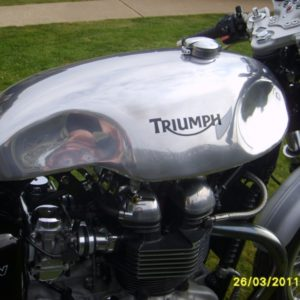 Another shot of the Norton Sprint with indents on a Hinkley Triumph Thruxton