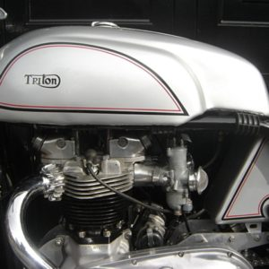 Another shot of the Wideline Mini Manx tank on a Triumph powered Triton