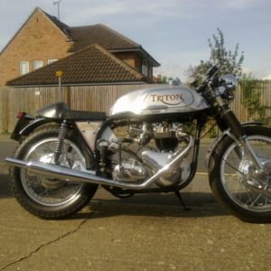 A five gallon Manx tank on a 59 Triumph powered Triton