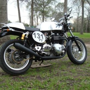 Triumph Thrux with Slippery Sam tank and alloy Cowl