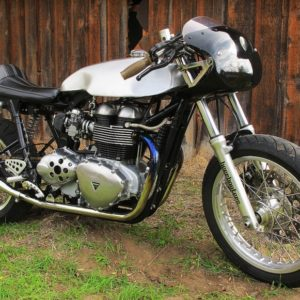 Stunning modern Cafe Racer,Sprint style tank on a Triumph Thrux
