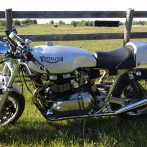 Another Sprint on a Triumph Thrux, this time with a scurfed alloy finish rather than polished