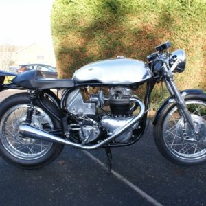 Sprint style tank on a Norton slimline frame - this time without clipon indents
