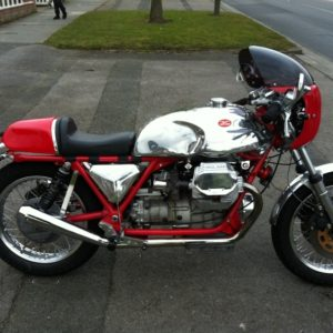 This 1989 Moto Guzzi Mille GT has been transformed with a TAB tank and alloy sidepanel