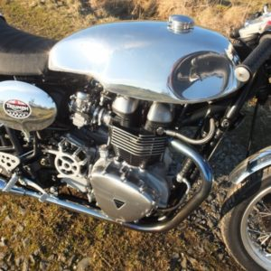 Triumph Thrux with TAB Sprint tank and seat Cowl