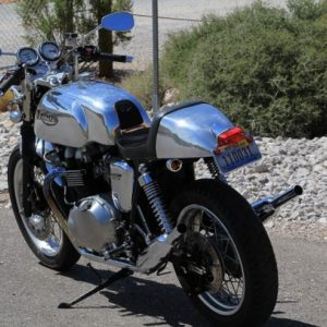 Triumph Thrux with TAB Manx tank seat and fender