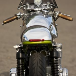 Jason Moore`s fantastic Honda CB550 with TAB tank and seat