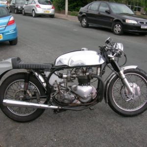 Mini Manx tank on a Triumph powered Wideline Triton