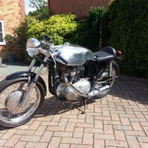 Sprint tank on this pretty little Slimline Triumph powered Triton