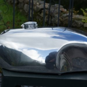 Triumph Slippery Sam Style Alloy Fuel Tank for carb version Hinckley Thruxton and Bonneville