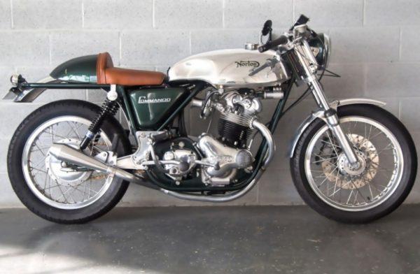 TAB Lyta style tank on this stunning Norton Commando, this bike was built by NYC Norton