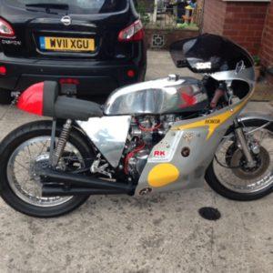TZ style Custom tank on a Honda CB550