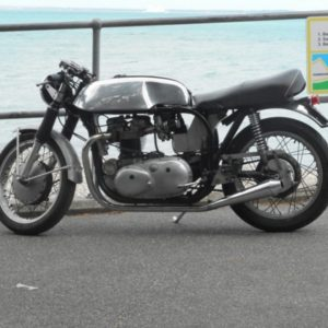 Our Norvil style tank this time on a Wideline Norton
