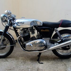 Norton Commando with sprint tank, this bike was featured in classic bike guide magazine.