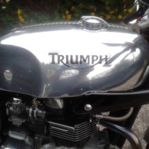 Slippery Sam on a Triumph Thrux