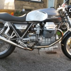 Part Painted long Guzzi with aero cap