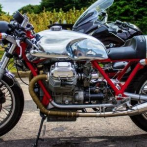 Long Guzzi tank with Monza cap on this very nice early Guzzi