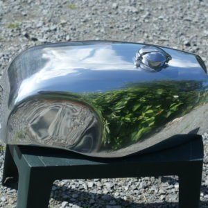 Handmade alloy petrol /gas tank for a Triumph Bonneville/ Thruxton cafe racer