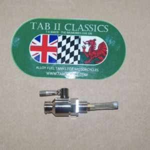 Nickel Plated 1/4 BSP fuel tap