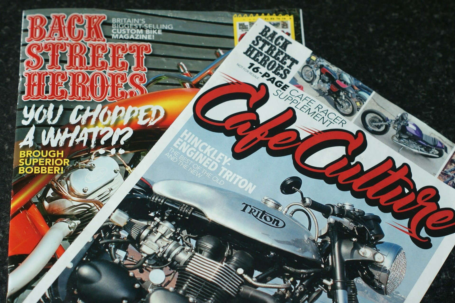 Shock News – Cafe Racer in Chopper mag